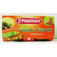 PLASMON OMOGENEIZZATO LEGUMI E VERDURE - DAL SESTO MESE - 2 x 80 G