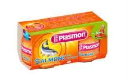 PLASMON OMOGENEIZZATO SALMONE CON VERDURE - DA 6 A 36 MESI - 2 x 80 G
