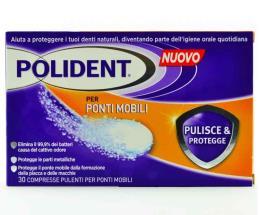POLIDENT PULISCE E PROTEGGE - COMPRESSE PER PONTI MOBILI - 30 COMPRESSE