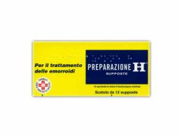 PREPARAZIONE H PER TRATTAMENTO DELLE EMORROIDI 12 SUPPOSTE DA 23 MG