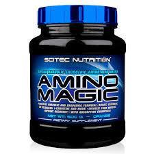 SCITEC NUTRITION AMINO MAGIC - COMPLESSO DI AMINOACIDI DI 10 COMPONENTI GUSTO ARANCIA - 500 G