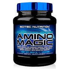 SCITEC NUTRITION AMINO MAGIC - COMPLESSO DI AMINOACIDI DI 10 COMPONENTI GUSTO MELA - 500 G