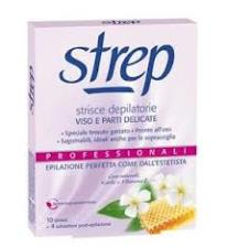 STREP STRISCE DEPILATORIE VISO E PARTI DELICATE - 10 STRISCE + 4 SALVIETTE
