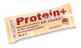 WATT PROTEIN+ WHITE - BARRETTA PROTEICA RICOPERTA DI CIOCCOLATO BIANCO GUSTO CAPPUCCINO - 40 G