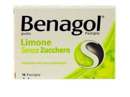 BENAGOL GUSTO LIMONE SENZA ZUCCHERO - 16 PASTIGLIE