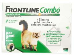 FRONTLINE COMBO SPOT ON GATTI ADULTI 3 PIPETTE DA 0,5 ML