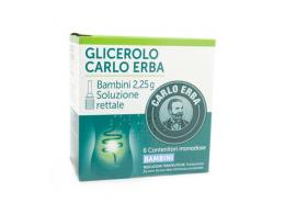 GLICEROLO CARLO ERBA BAMBINI MICROCLISMI 6 CONTENITORI DA 2.25 G