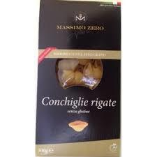 MASSIMO ZERO PASTA CORTA SENZA GLUTINE - CONCHIGLIE RIGATE - 500 G