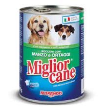 MIGLIORCANE UMIDO BOCCONI CON MANZO E ORTAGGI GR.405 - 24 CONFEZIONI
