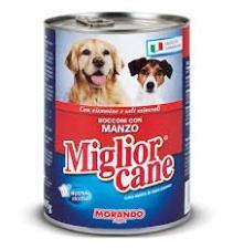 MIGLIORCANE UMIDO BOCCONI CON MANZO GR.405 - 24 CONFEZIONI