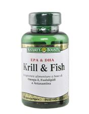 NATURE'S BOUNTY KRILL AND FISH 60 PERLE SOFTGEL