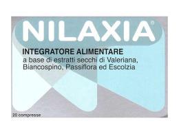NILAXIA 20 COMPRESSE DA 20 G