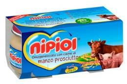 NIPIOL OMOGENEIZZATO MANZO PROSCIUTTO COTTO - DA 4 MESI - 2 x 80 G