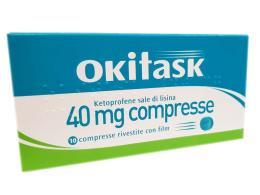 OKITASK 40 MG 10 COMPRESSE