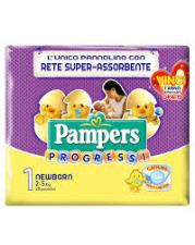PAMPERS PROGRESSI 1 - PANNOLINI NEWBORN 2-5 KG - 28 PEZZI