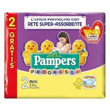 PAMPERS PROGRESSI 2 - PANNOLINI MINI 3-6 KG - 30 PEZZI