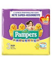 PAMPERS PROGRESSI 3 - PANNOLINI MIDI 4-9 KG - 28 PEZZI