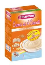 PLASMON CREMA DI CEREALI - CREMA AI 4 CEREALI - DA 4 A 36 MESI - 230 G
