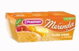 PLASMON MERENDA FRUTTA MISTA E CEREALI - DA 6 A 36 MESI - 2 x 120 G