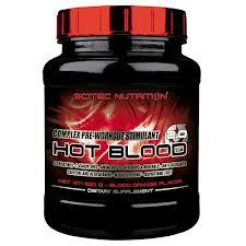 SCITEC NUTRITION HOT BLOOD 2.0 - FORMULA COMPLESSA PRE WORKOUT GUSTO BLUE GUARANA' - 820 G