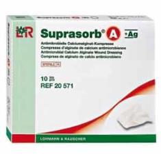 SUPRASORB A+AG MEDICAZIONI COMPRESSE - 10 PEZZI DA 5 x 5 CM