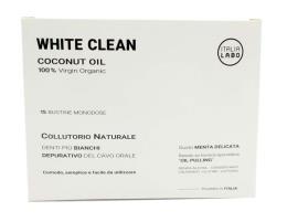 WHITE CLEAN COCONUT OIL COLLUTORIO NATURALE 15 BUSTINE MONODOSE